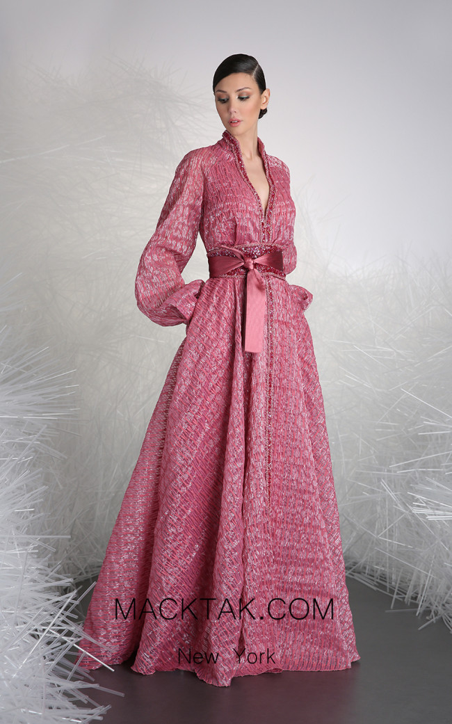 Tony Ward 50 Pink Front Evening Dress
