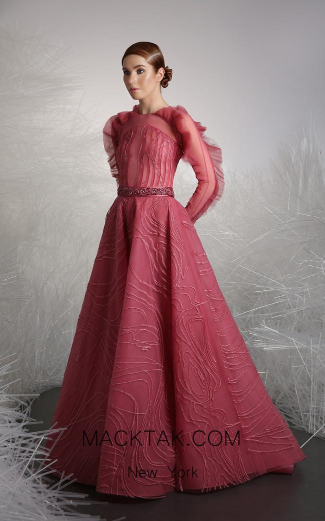 Tony Ward 52 Pink Front Evening Dress