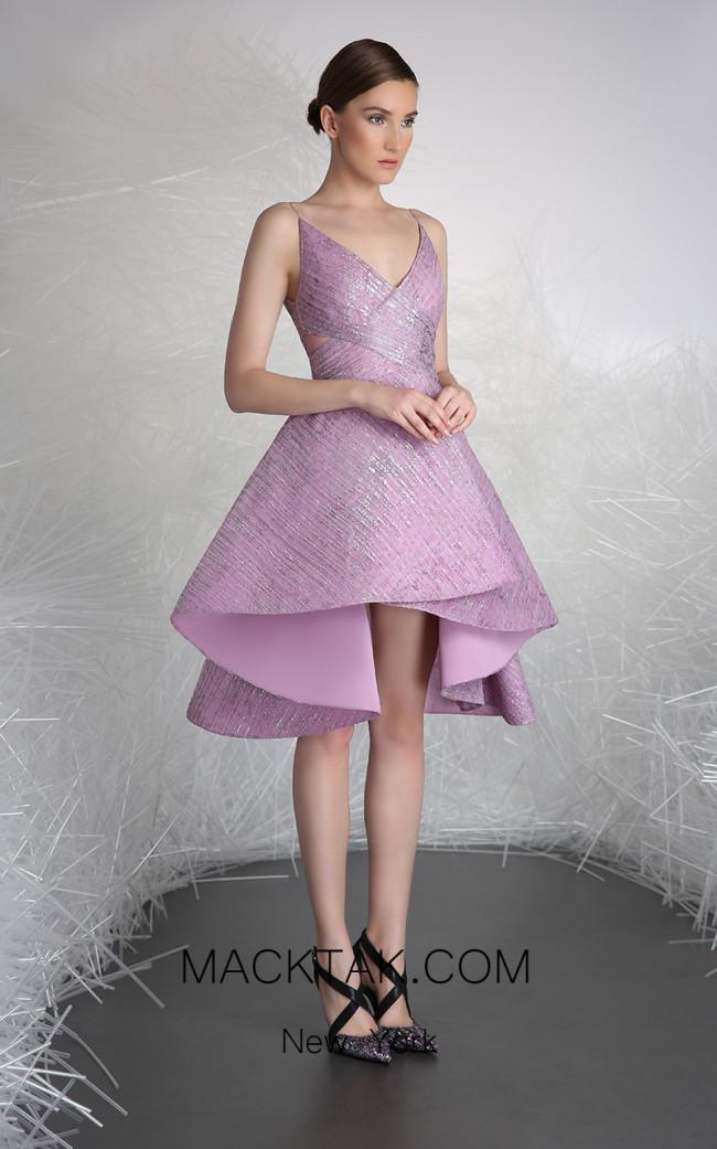 Tony Ward FW29 Purple Front Evening Dress