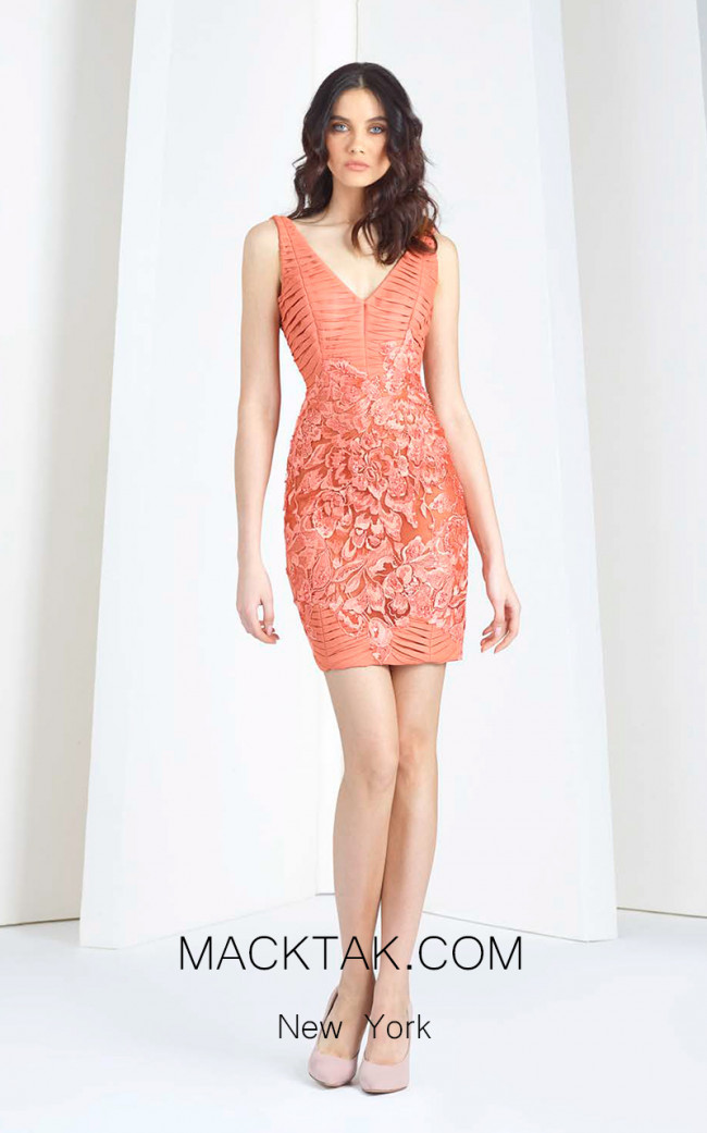 Tony Ward FW33 Orange Front Evening Dress