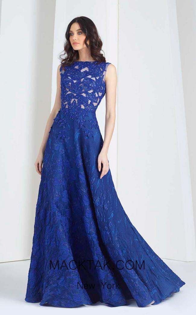 Tony Ward FW37 Blue Front Evening Dress