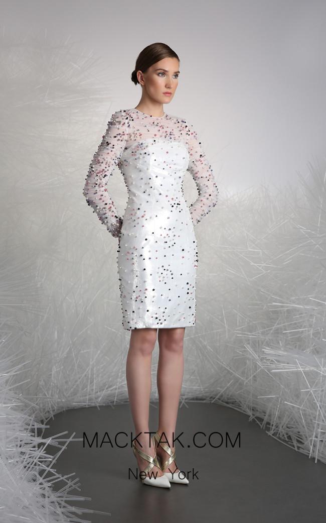 Tony Ward FW38 White Front Evening Dress