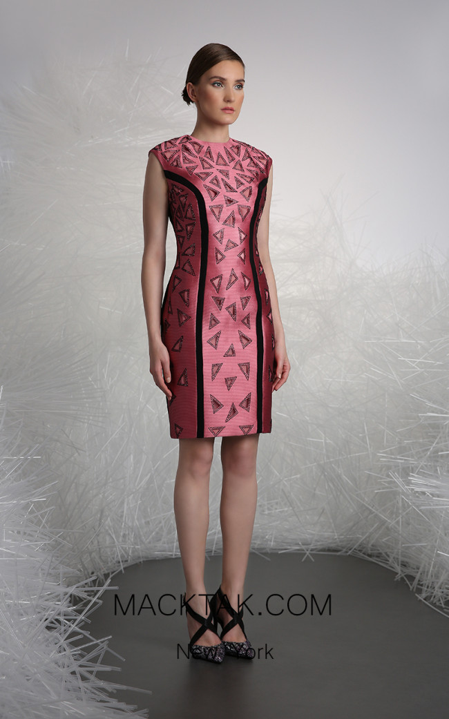 Tony Ward FW51 Pink Front Evening Dress