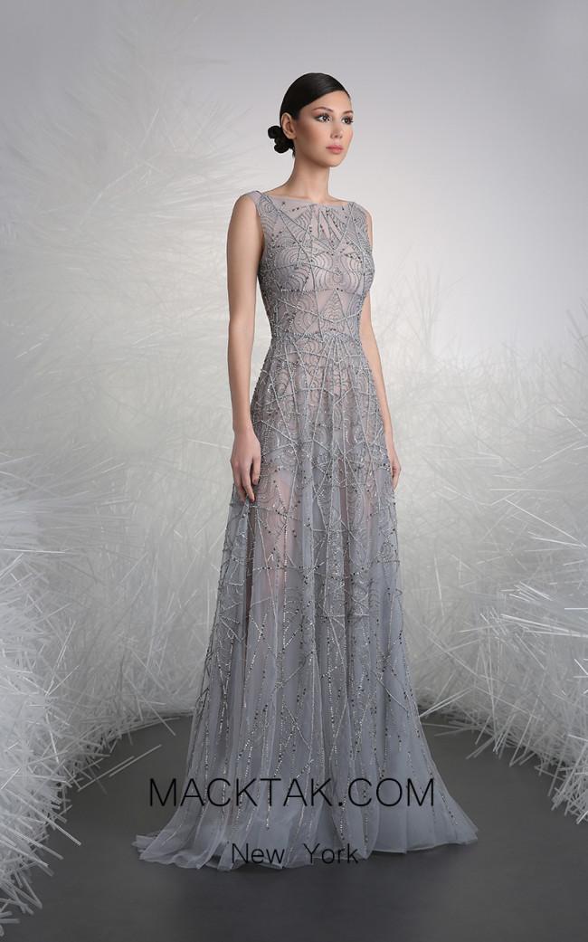 Tony Ward FW13 Gray Front Evening Dress