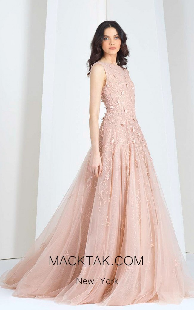 Tony Ward T10 Pink Front Evening Dress