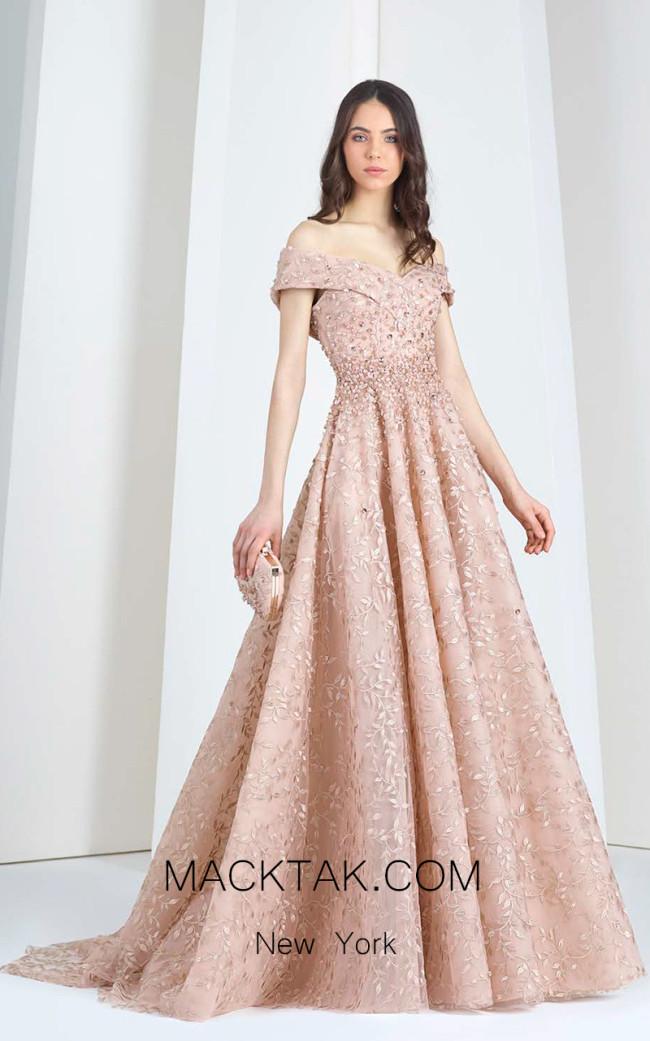 Tony Ward T14 Pink Front Evening Dress