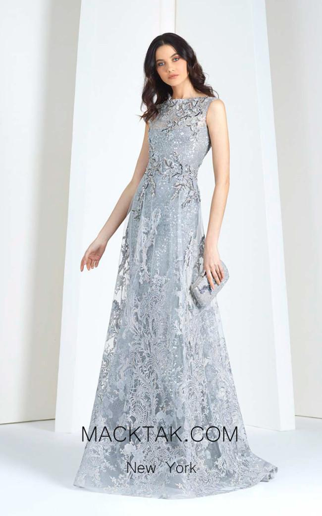 Tony Ward T17 Gray Front Evening Dress