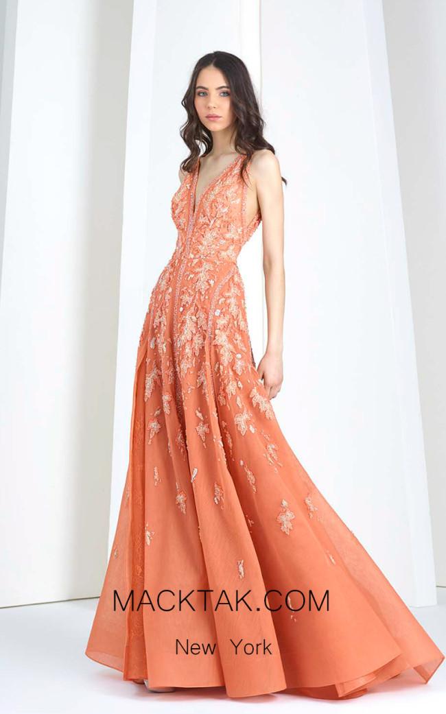 Tony Ward T31 Orange Front Evening Dress