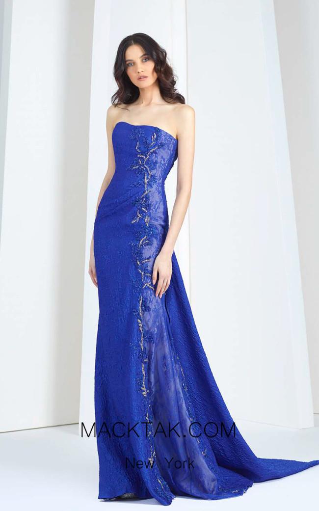 Tony Ward T39 Blue Front Evening Dress