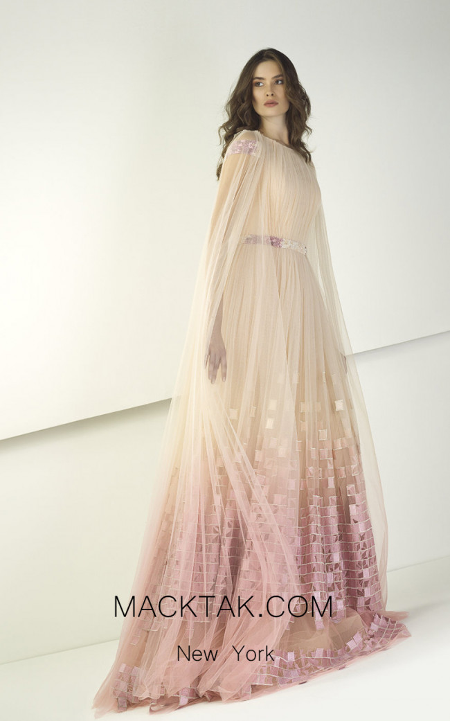 Tony Ward TW03 Powder Pink Front Evening Dress