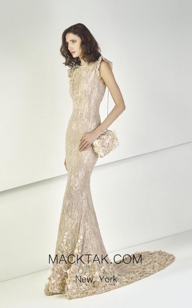 Tony Ward TW04 Nude Front Evening Dress