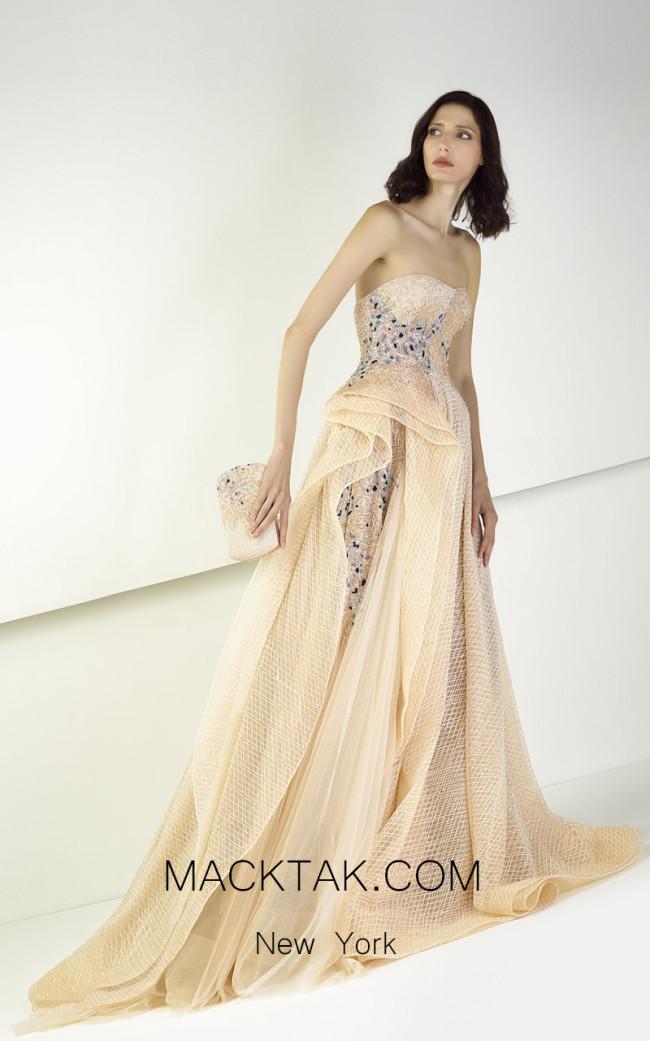 Tony Ward TW06 Nude Front Evening Dress