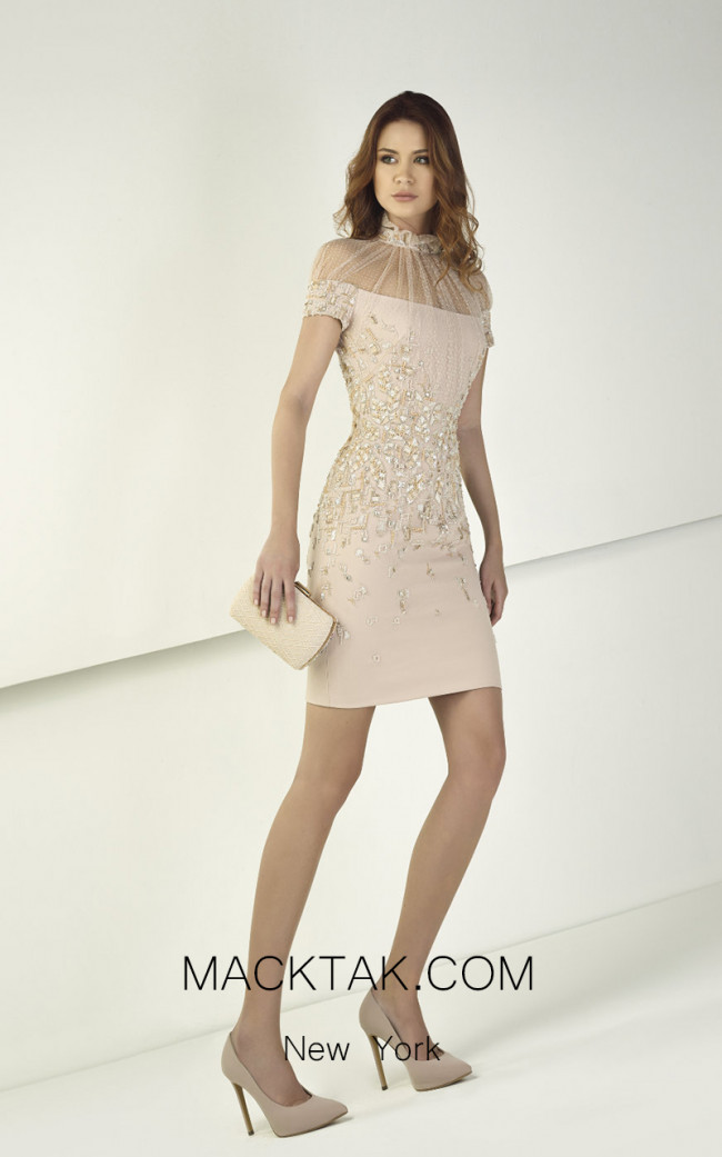Tony Ward TW07 Powder Pink Front Evening Dress