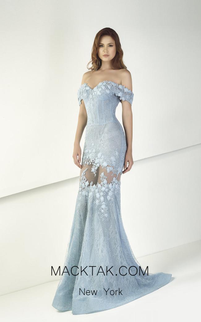 Tony Ward TW12 Blue Front Evening Dress