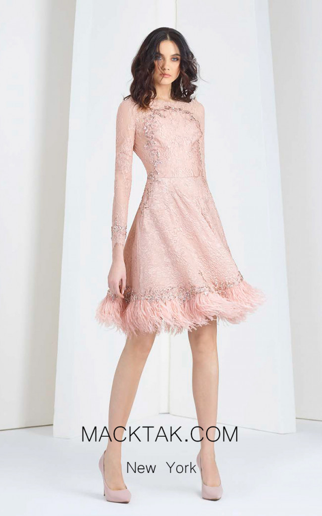 Tony Ward T12 Pink Front Evening Dress