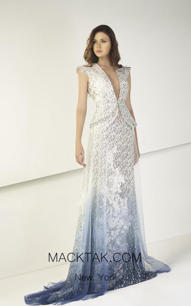 Tony Ward TW16 Blue Front Evening Dress