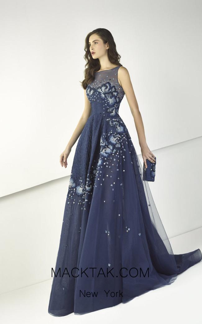 Tony Ward TW18 Blue Front Evening Dress