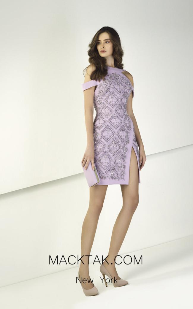 Tony Ward TW24 Purple Front Evening Dress