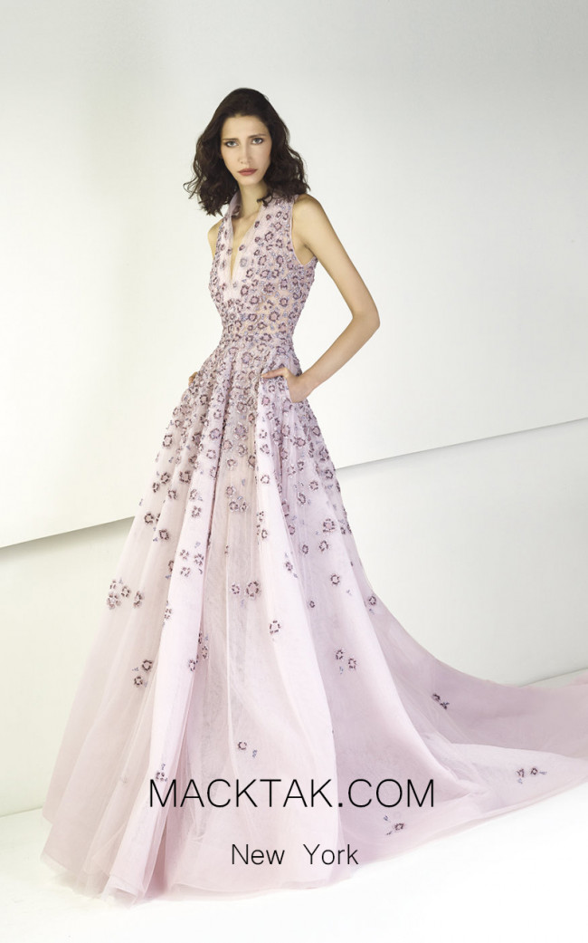 Tony Ward TW26 Purple Front Evening Dress
