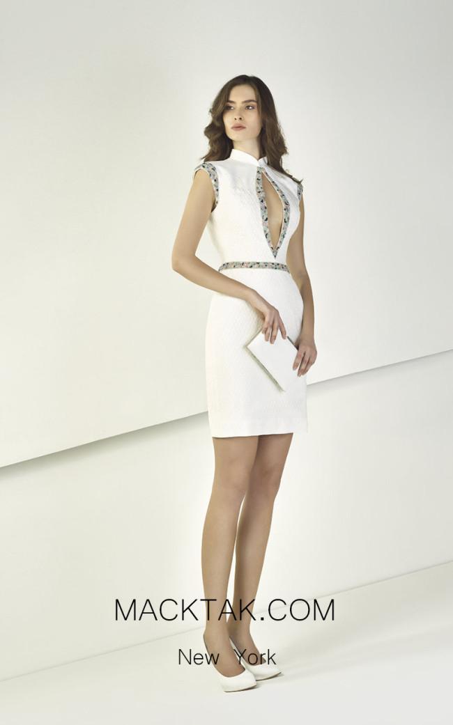 Tony Ward TW32 White Front Evening Dress
