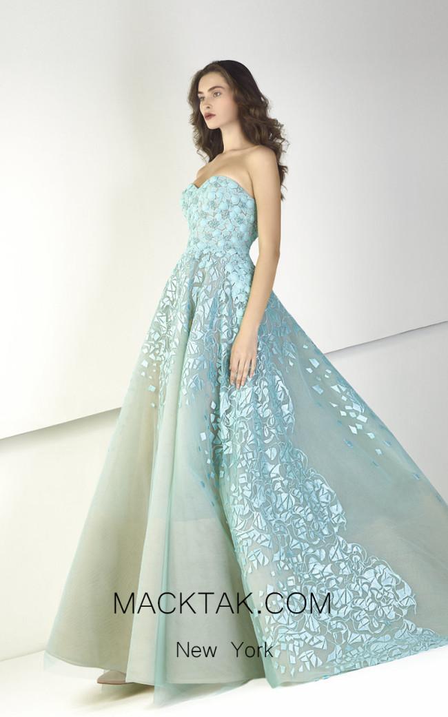 Tony Ward TW35 Blue Front Evening Dress