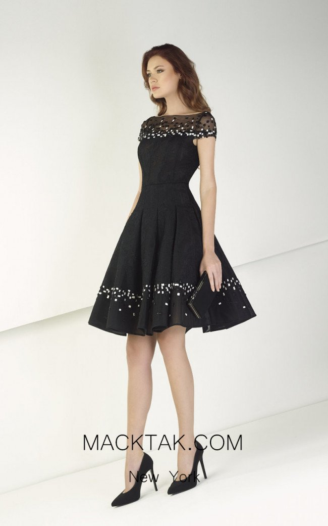 Tony Ward TW40 Black Front Evening Dress