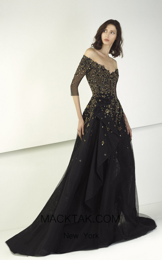 Tony Ward TW41 Black Front Evening Dress