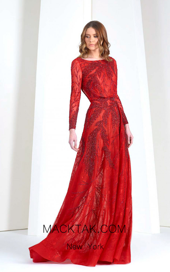 Tony Ward TW52 Red Front Evening Dress