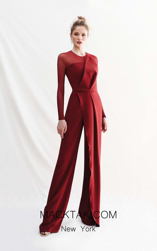 Victoria Jacaranda Wine Front Dress