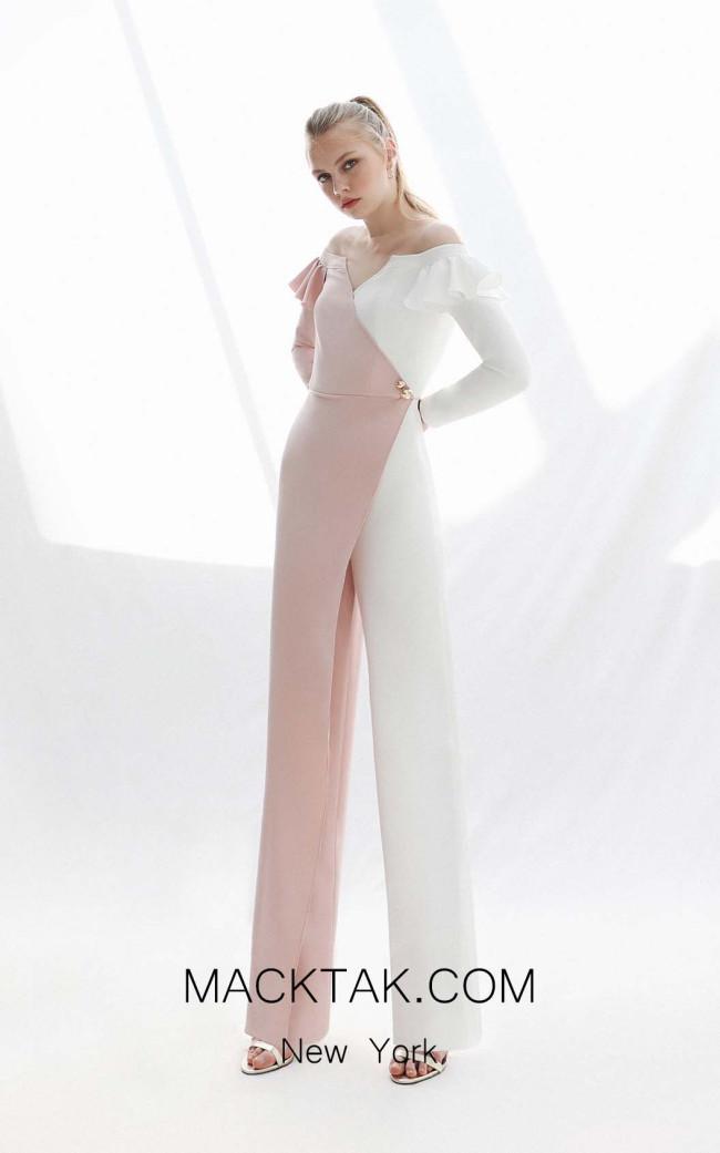 Victoria Jaimina White_Salmon Front Dress