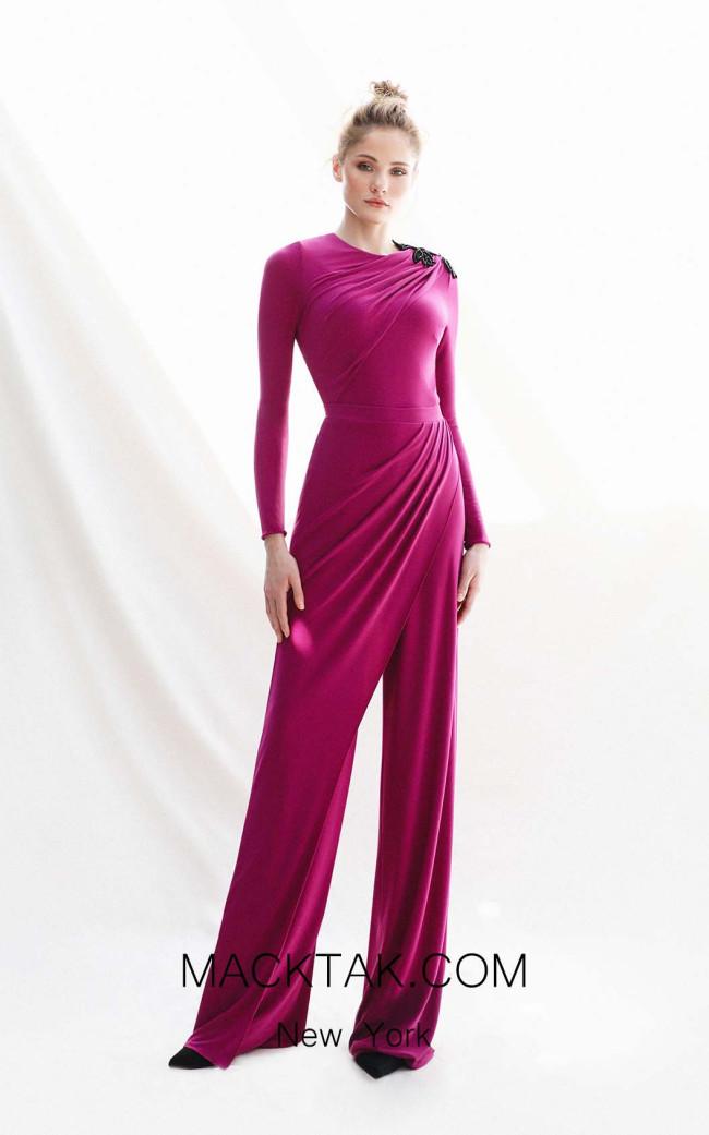 Victoria Justina Fuchsia Front Dress
