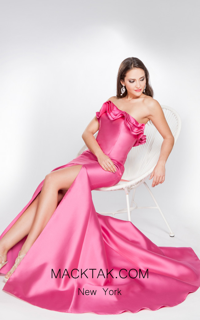 X & M Couture 49003 Front Evening Dres
