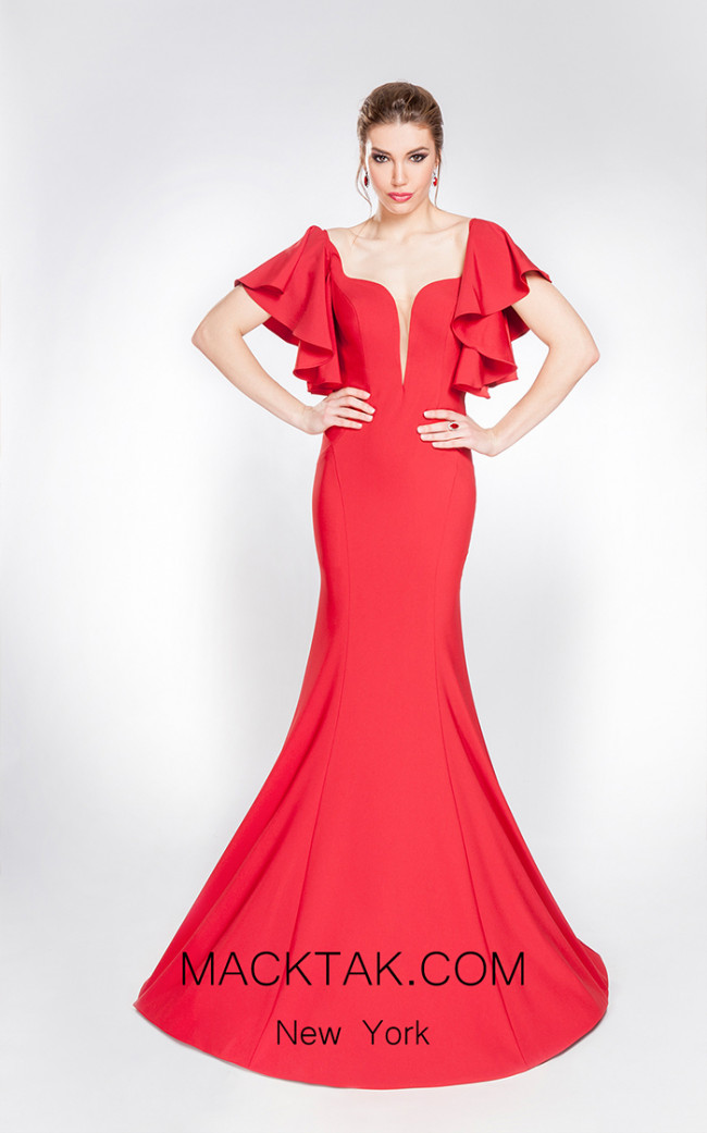 X & M Couture 49007 Front Evening Dress