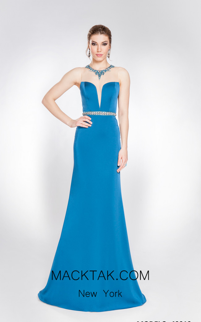 X & M Couture 49010 Front Evening Dress