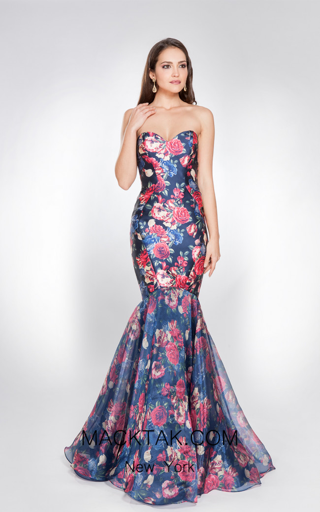 X & M Couture 49019 Front Evening Dress