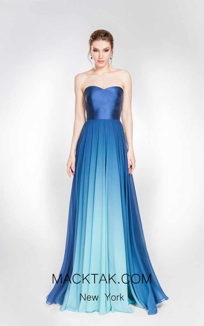 X & M Couture 49025 Front Evening Dress