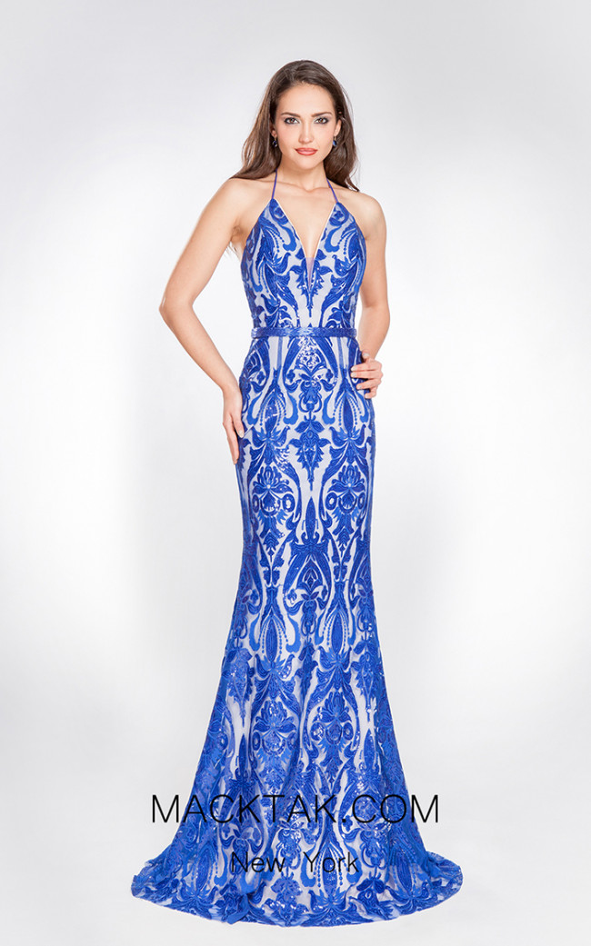 X & M Couture 49029 Front Evening Dress