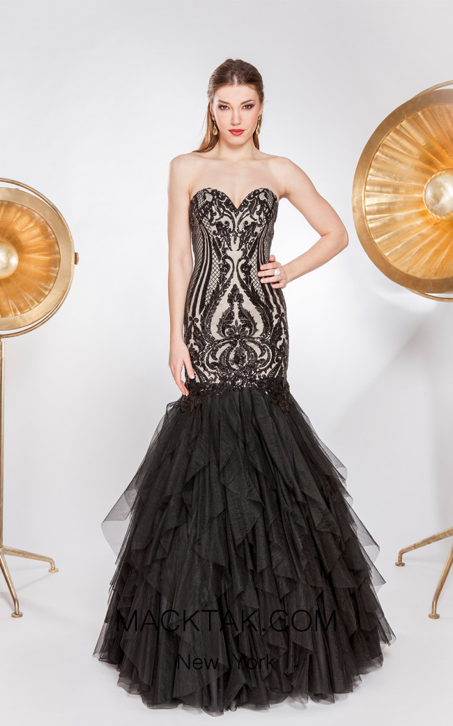 X & M Couture 49030 Front Evening Dress