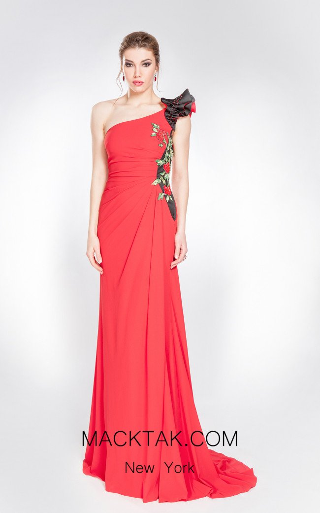 X & M Couture 49036 Front Evening Dress