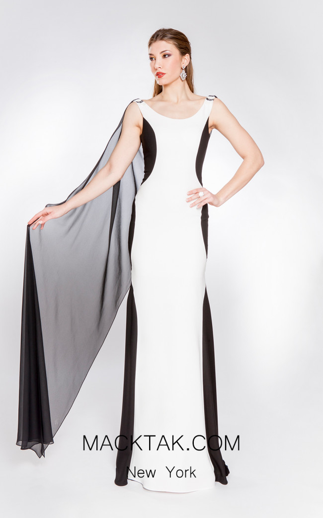 X & M Couture 49038 Front Evening Dress