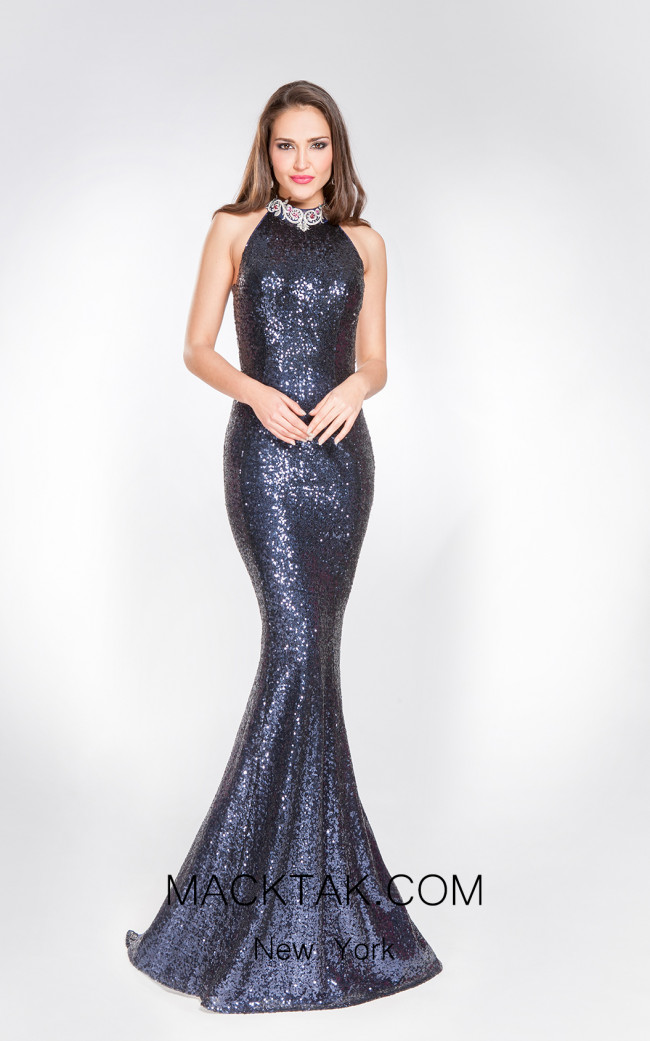 X & M Couture 49042 Front Evening Dress