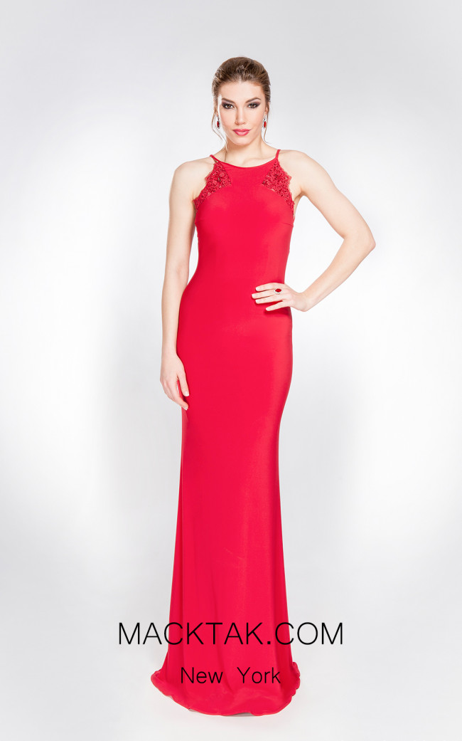 X & M Couture 49046 Front Evening Dress