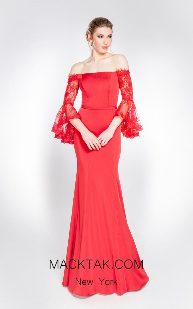 X & M Couture 49047 Front Evening Dress
