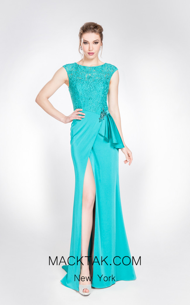 X & M Couture 49049 Front Evening Dress