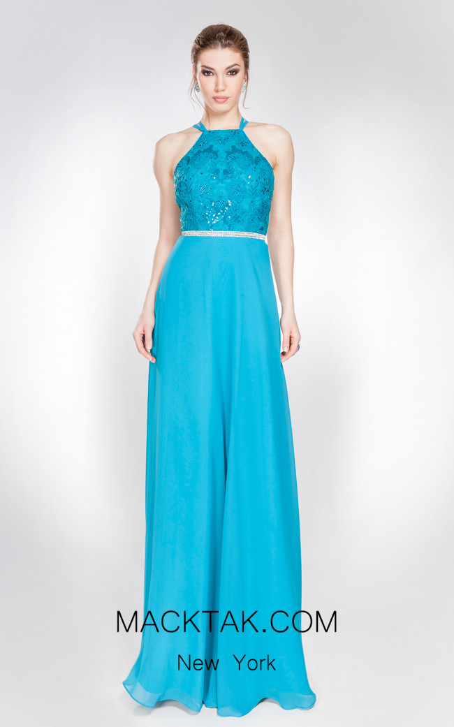 X & M Couture 49054 Front Evening Dress