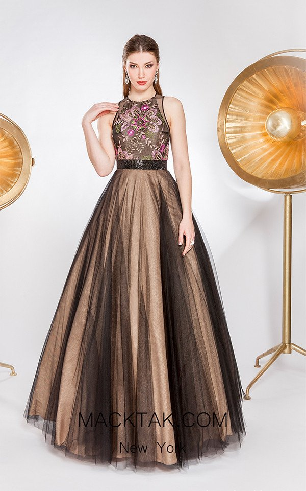 X & M Couture 49057 Front Evening Dress