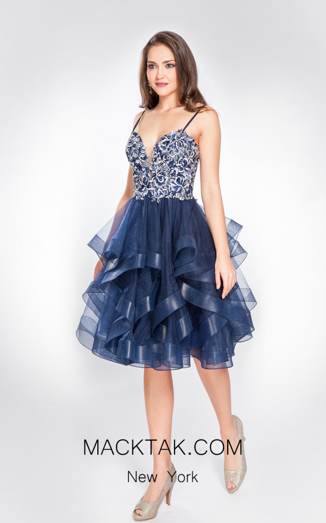 X & M Couture 49063 Front Evening Dress