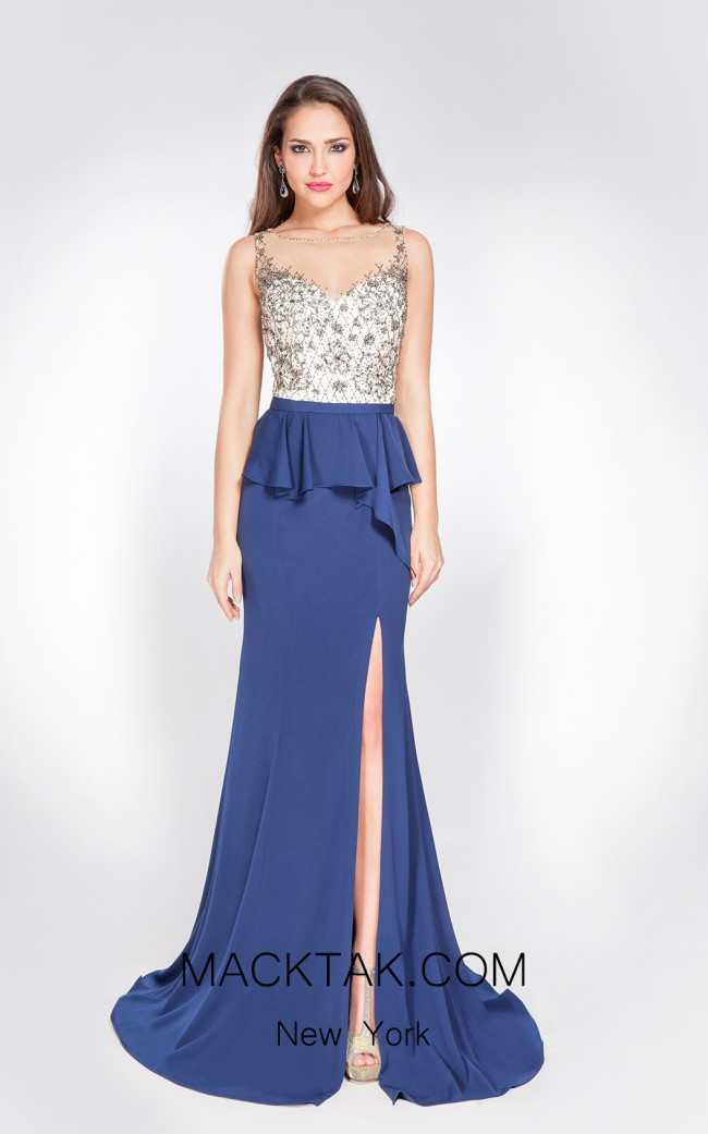 X & M Couture 49065 Front Evening Dress