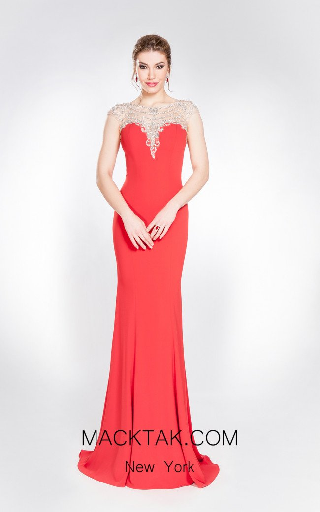 X & M Couture 49070 Front Evening Dress