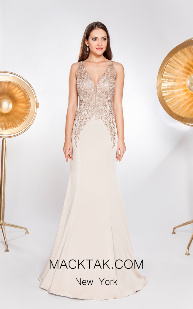X & M Couture 49073 Front Evening Dress
